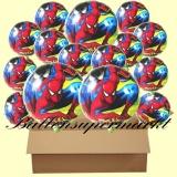 Spiderman Rundluftballons mit Helium, Kindergeburtstag Geschenke, 18 Stück