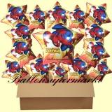 Spiderman Sternluftballons mit Helium, Kindergeburtstag Geschenke, 18 Stück