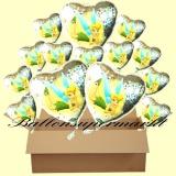 Tinkerbell Holo Luftballons mit Helium, Kindergeburtstag Geschenke, 18 Stück