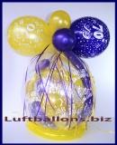 Geschenkeballon, Luftballon, Verpackungsballon zum 70. Geburtstag