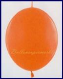 Girlanden-Luftballons, Kristall-Orange, 100 Stück