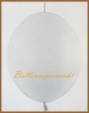 Girlanden-Luftballons, Weiß, 100 Stück