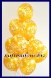 Zahlen-Luftballons, Gold, Zahl 50, 10 Stück