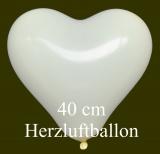 Elfenbeinfarbene Herzluftballons, 40 cm, 10 Stück