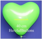 Grüne Herzluftballons, 40 cm, 50 Stück