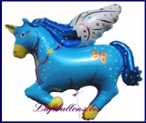 Großer Pegasus Luftballon mit Helium, Blau