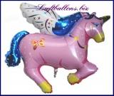 Großer Pegasus Luftballon mit Helium, Pink
