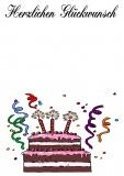 Grußkarte zum Geburtstag - Herzlichen Glückwunsch