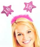 Geburtstag-Dekoration, Haarreif, 18. Geburtstag, Pink