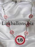 Schilder-Dekoration, Geburtstag Halskette mit der Zahl 18