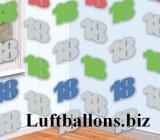 Geburtstag-Dekoration, Zahlenketten-Hänger, Dekoration zum 18. Geburtstag