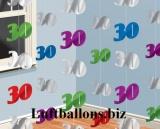 Geburtstag-Dekoration, Zahlenketten-Hänger, Dekoration zum 30. Geburtstag, Bunt
