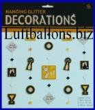 Silvesterdekoration, Glitter Dekoration zum Hängen, Happy New Year