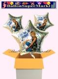 Hannah Montana Sternluftballons mit Helium, Kindergeburtstag Geschenke, 3 Stück