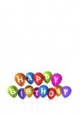 Grußkarte Geburtstag, Happy Birthday Balloons