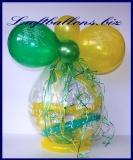 Geschenkballon, Luftballon zum Verpacken von Geschenken, Happy Birthday
