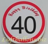 Geburtstag, Geschenktüte zum 40. Geburtstag