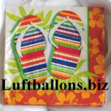 Servietten Flip Flop Fun, Hawaii-Partyservietten