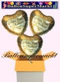 3 Luftballons mit Helium zur Hochzeit, Alles Gute zur Hochzeit, Folienballon