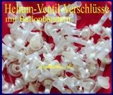 Helium-Ventil-Ballon-Verschlüsse für Latexballons mit Band, 50 Stück
