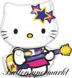 Luftballon, Hello Kitty Rock Star, Shape, Kindergeburtstag u. Geschenk