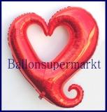 Herz der Liebe, Herz-Deko-Luftballon aus Folie inklusive Helium