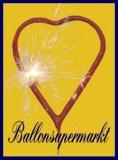 Herz-Wunderkerzen, Sprühkerzen in Herzform, 5 Stück
