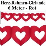 Herzdekoration, Herzdeko-Rahmen-Girlande, 6 Meter