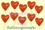 Herzluftballons Orange