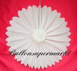 Hochzeit-Deko-Hänger, Weiße Rosette 60 cm, Hochzeitsrosette