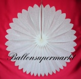 Hochzeit-Deko-Hänger, Weiße Rosette 75 cm, Hochzeitsrosette