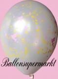 Luftballons Hochzeit, Latexballons in Weiß, Tauben und Herzen, 10 Stück
