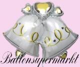 Luftballon zur Hochzeit, Hochzeitsglocken, mit Helium