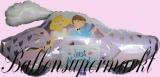 Luftballon zur Hochzeit, Hochzeitspaar im Auto, mit Helium