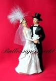 Hochzeitspaar, Tischdekoration zur Hochzeit, Braut und Bräutigam, Deko-Figuren