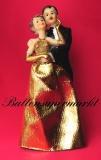 Hochzeitdeko, Tischdekoration zur Goldenen Hochzeit, Hochzeitspaar, Deko-Figuren