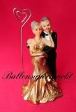 Hochzeitdeko, Tischdekoration zur Goldenen Hochzeit, Hochzeitspaar-Deko-Figuren