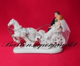 Hochzeitdeko, Tischdekoration zur Hochzeit, Hochzeitspaar in Kutsche