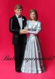 Hochzeitdeko, Tischdekoration zur Silberhochzeit, Hochzeitspaar Silberne Hochzeit