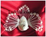 Tischdekoration und Hochzeitstdekoration, Hochzeitstaube in Weiß