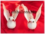 Taubenpaar, Weiß, 18 cm, Hochzeitsdekoration