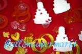 Konfetti Hochzeit, Tischdekoration, Hochzeitstorten, Eheringe und Herzen