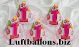 Partydekoration zum 1. Geburtstag, Partyhüte, 1st Birthday, Pink, 8 Stück