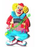 Faschingsclown mit Ziehharmonika