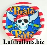 Partydekoration, Partyteller, Piraten, 8 Stück