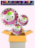 Hello Kitty Rundluftballons mit Helium, Kindergeburtstag Geschenke, 3 Stück