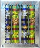 Knallbonbons-Sortiment, Bunt mit Glücks-Motiven, 4 Stück, 22 cm