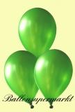 Luftballons Metallic, Latexballons in metallischen grünen Farben, 100 Stück Rundballons Metallik