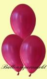 Luftballons Metallic, Latexballons in metallischen Pink-Fuchsia-Farben, 100 Stück Rundballons Metallik