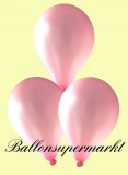 Luftballons Metallic, Latexballons in metallischen Rosa-Farben, 100 Stück Rundballons Metallik